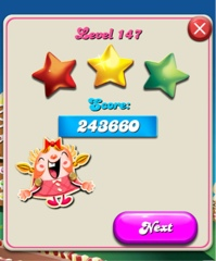 crush level 147 i will never play you ever again lucky me i got three