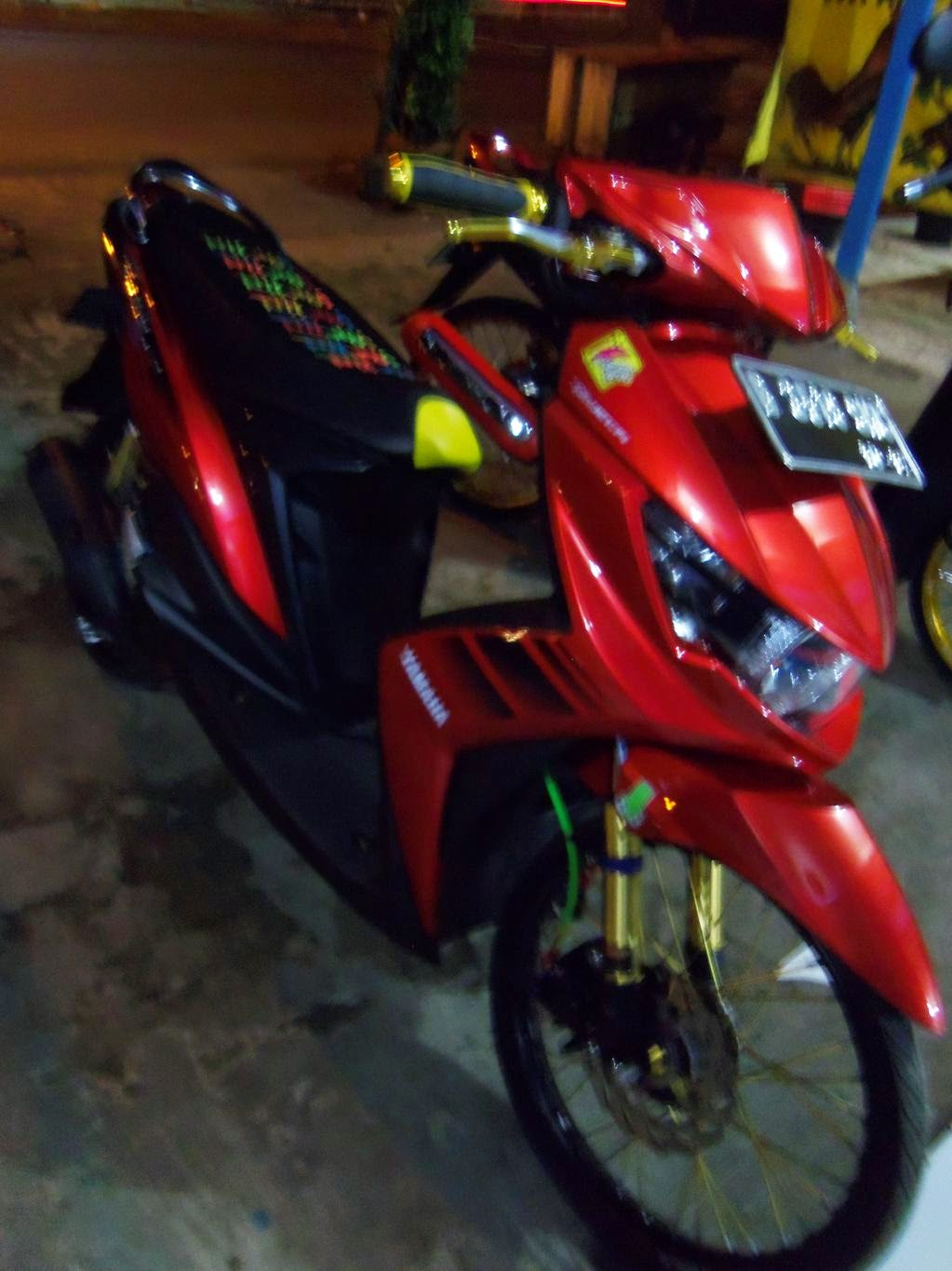 modifikasi mio soul gt warna hitam