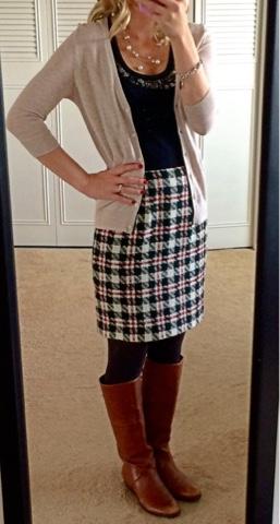Ann Taylot Tweed Skirt