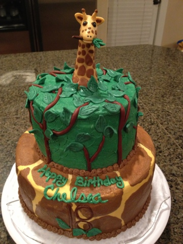 Cats Cake Creations Giraffe Birthday Cake