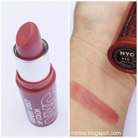 NYC Expert Last Lipstick in Sugar Plum -  photo credit: intrice.blogspot.com