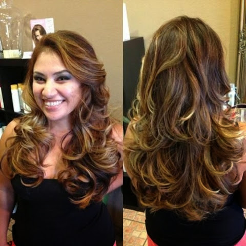 Here are a few photos of balayage ombré: