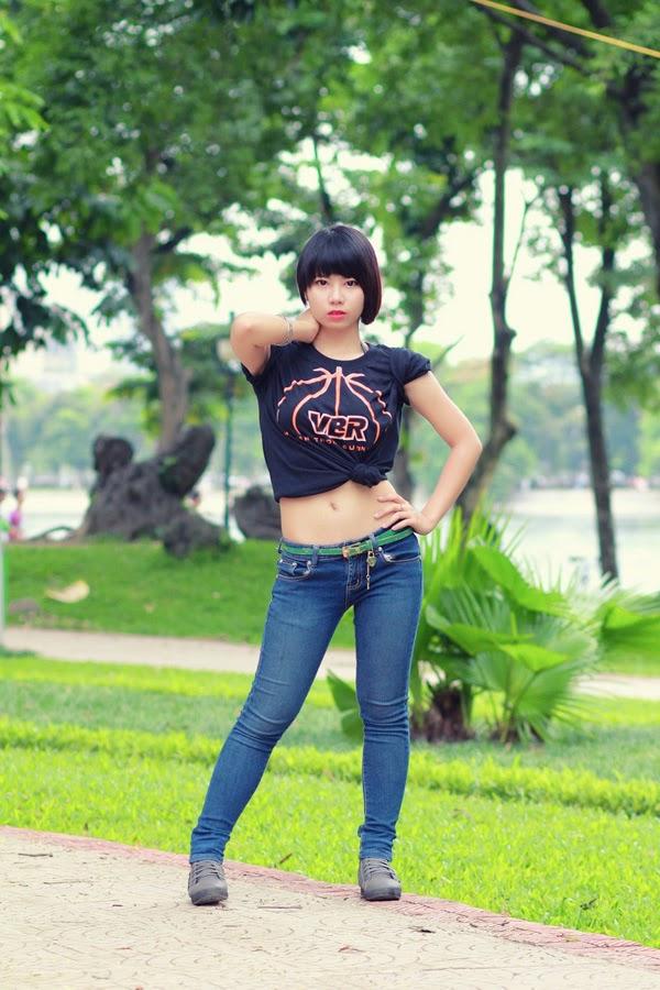 Thí sinh Miss Bóng Rổ khoe sắc tại công viên 3