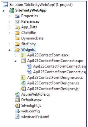 sitefinity webapp folder