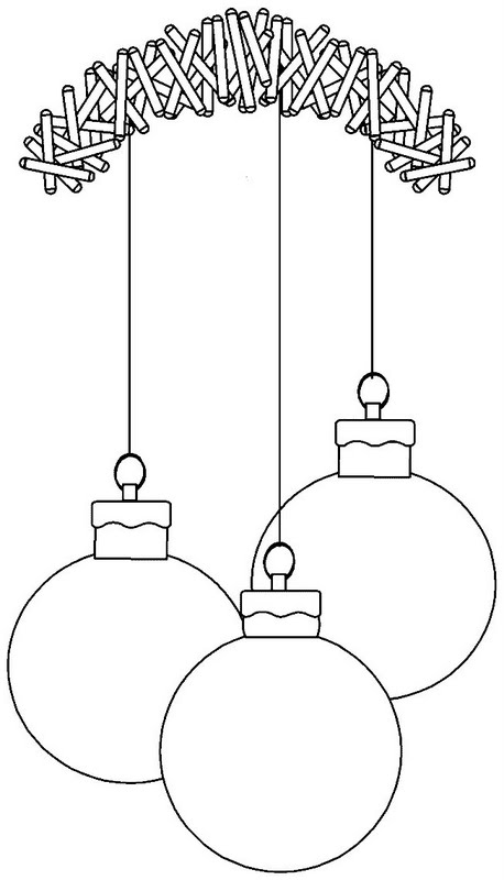 Christmas ball coloring pages | Coloring Pages