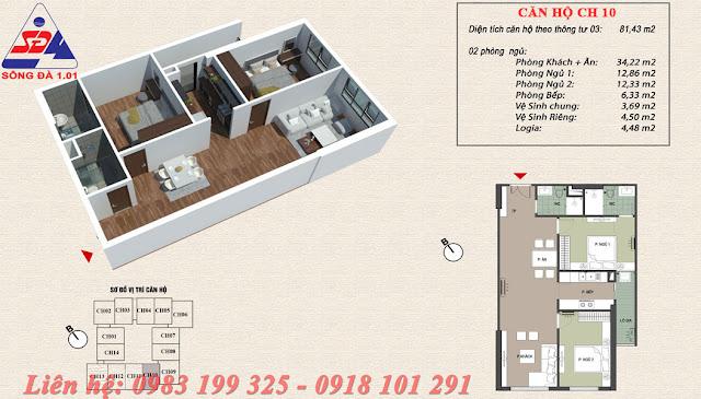 Bán căn 2 ngủ chung cư ecogreen số 1 Giáp Nhị Thịnh Liệt giá rẻ