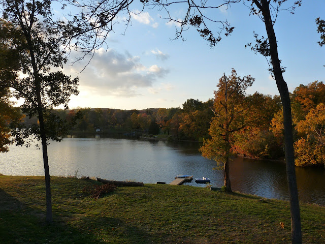 View from the lake house, October 2012