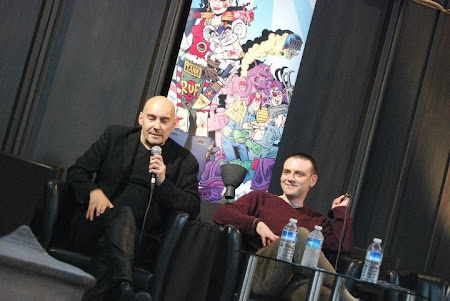 Grant Morrison and Frank Quitely at Glasgow Comic Con 2012. Photo: Craig Hastie of Comics Anonymous