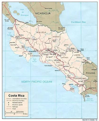 COSTA RICA America  MAPAS DE