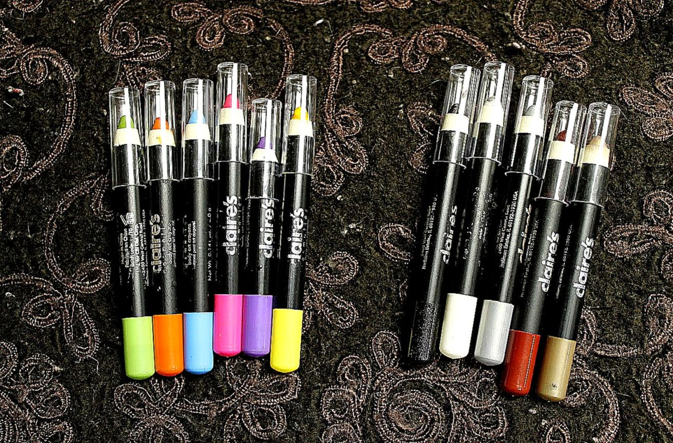 The Daily Swatch Claire39s Body Art Crayons