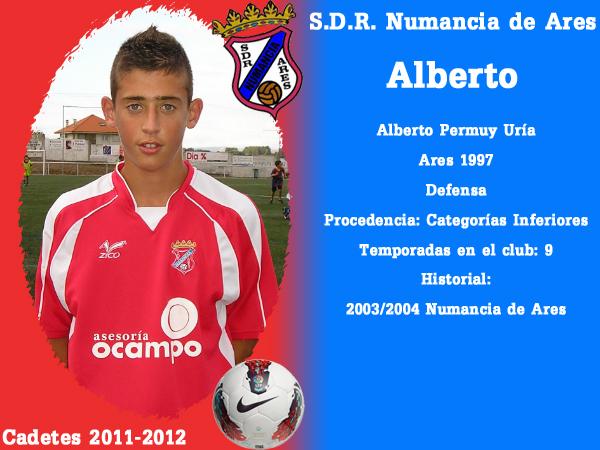 ADR Numancia de Ares. Cadetes 2011-2012. ALBERTO.