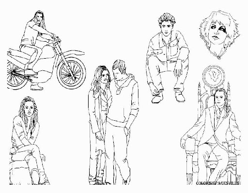 Breaking Dawn Coloring Pages Coloring Pages