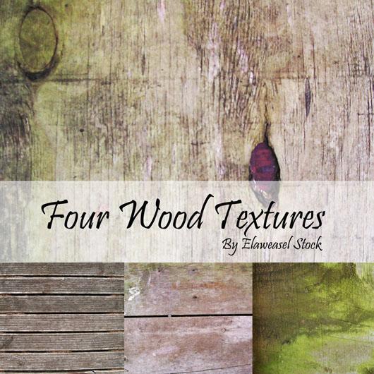 Pacote com quatro texturas madeira download