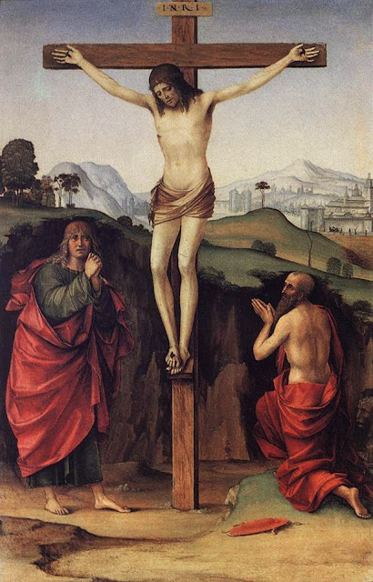 Francesco Francia - Crucifixion with Sts John and Jerome