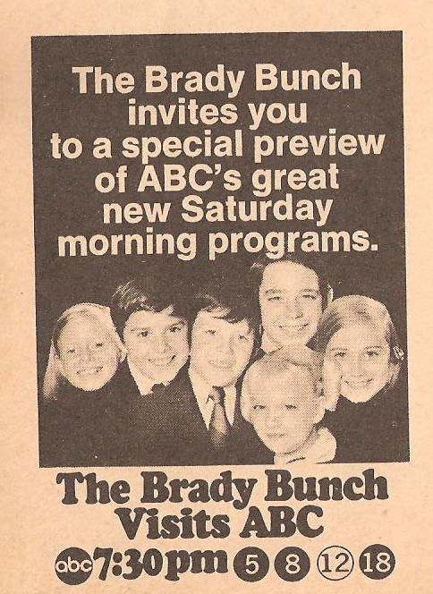 The Brady Bunch Visits ABC TV Guide Ad 1971
