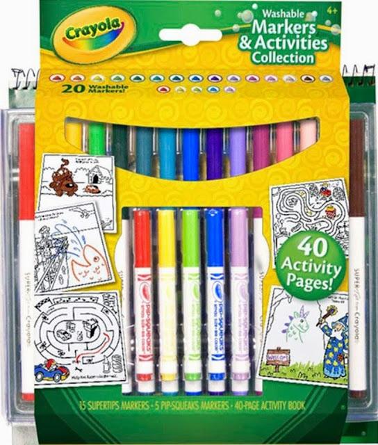 Bộ bút lông và giấy tô màu Crayola có sẵn mẫu vẽ