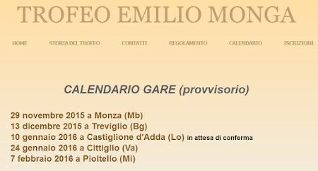 Calendario Gare Monga Provvisorio 2015