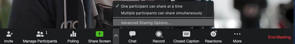 Advanced Sharing Options