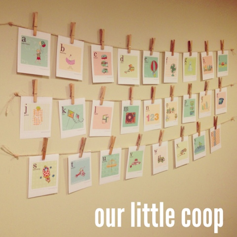 Alphabet Wall Cards, homeschool, diy, abc