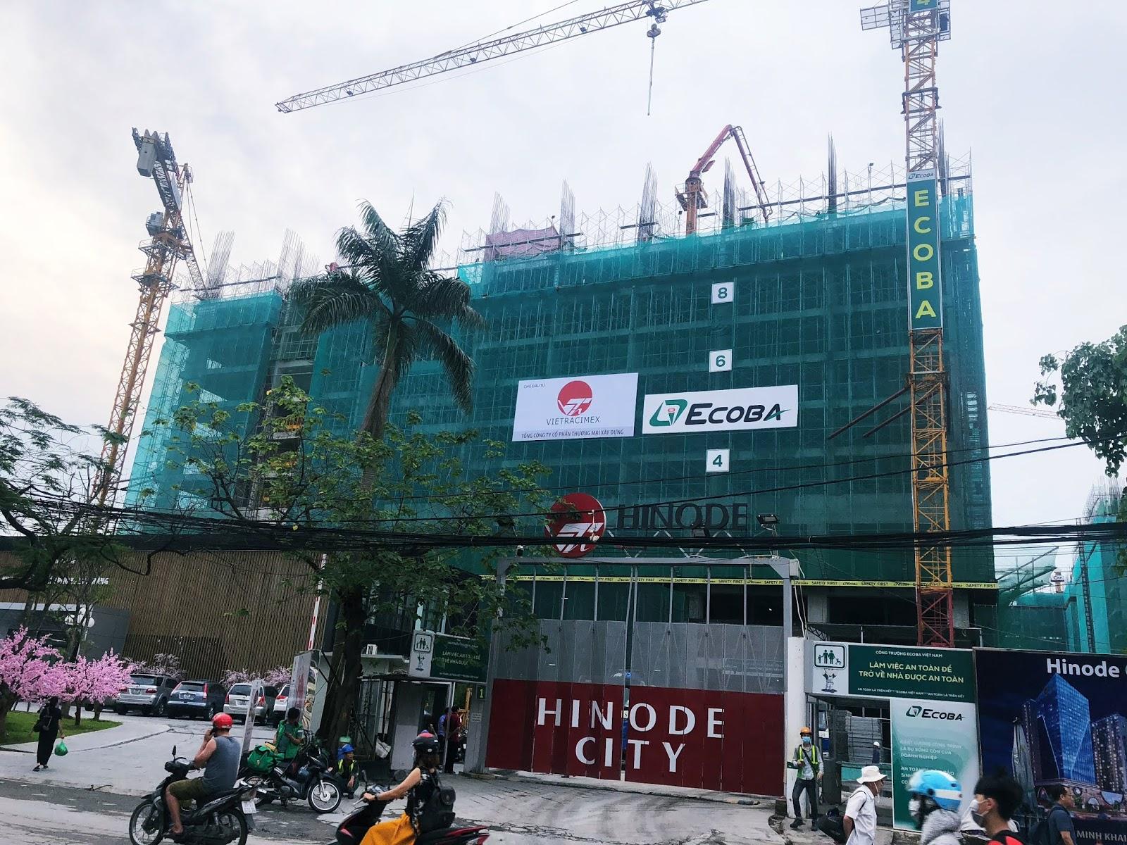 Tiến độ xây dựng chung cư Hinode Minh Khai mới nhất