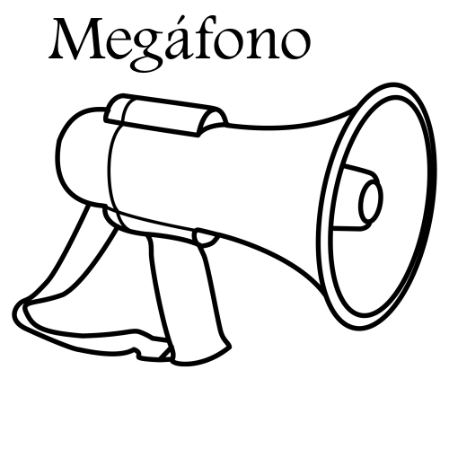 megaphone coloring pages - photo#10