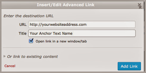 Anchor Text Hyperlink Editing Tool