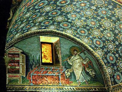 Mosaics in Mauseoleo di Galla Placidia in Ravenna Italy