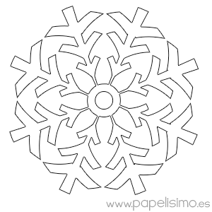 Copos De Nieve Para Colorear Papelisimo