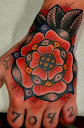 Tudor rose tattoo Designs 6