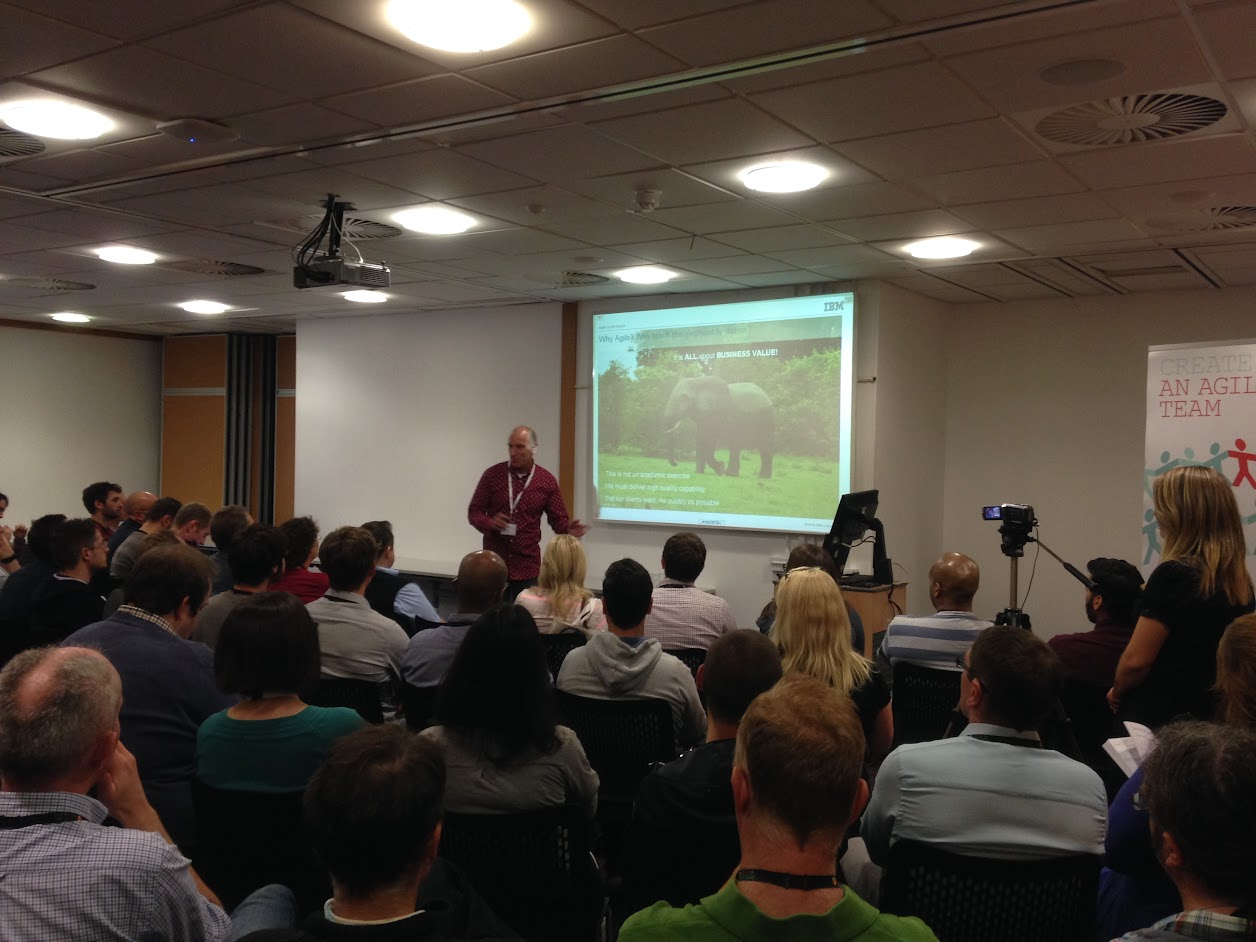 Jon Tilt of IBM presenting 'Making the Elephant Dance'