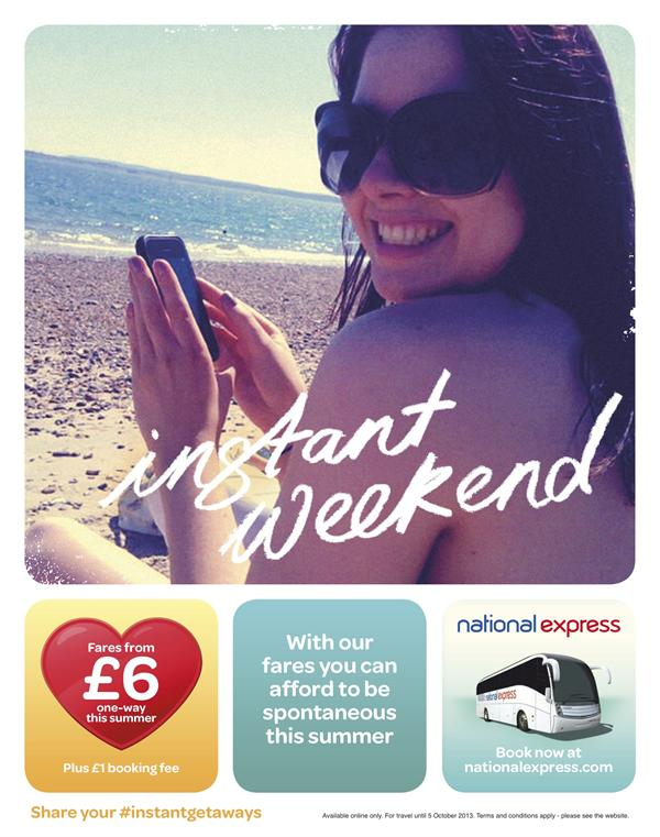 "National Express ""instant summer"" Print Ad"
