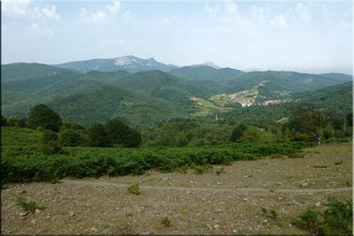 Vistas de Gorbeia durante el descenso