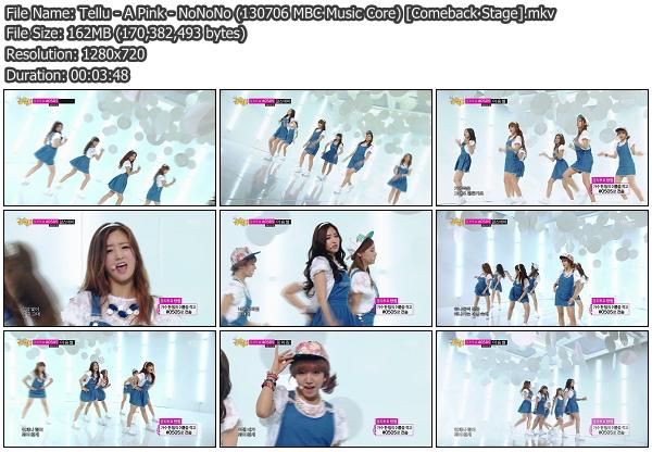 [Perf] A Pink   NoNoNo @ MBC Music Core 130706 (Comeback Stage)