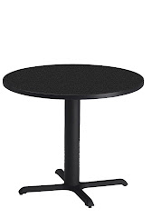 "Mayline - Bistro Dining Table 36"" Round - Black Iron Base - HPL"