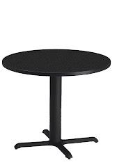 "Mayline - Bistro Dining Table 36"" Round - Black Iron Base - HPL"