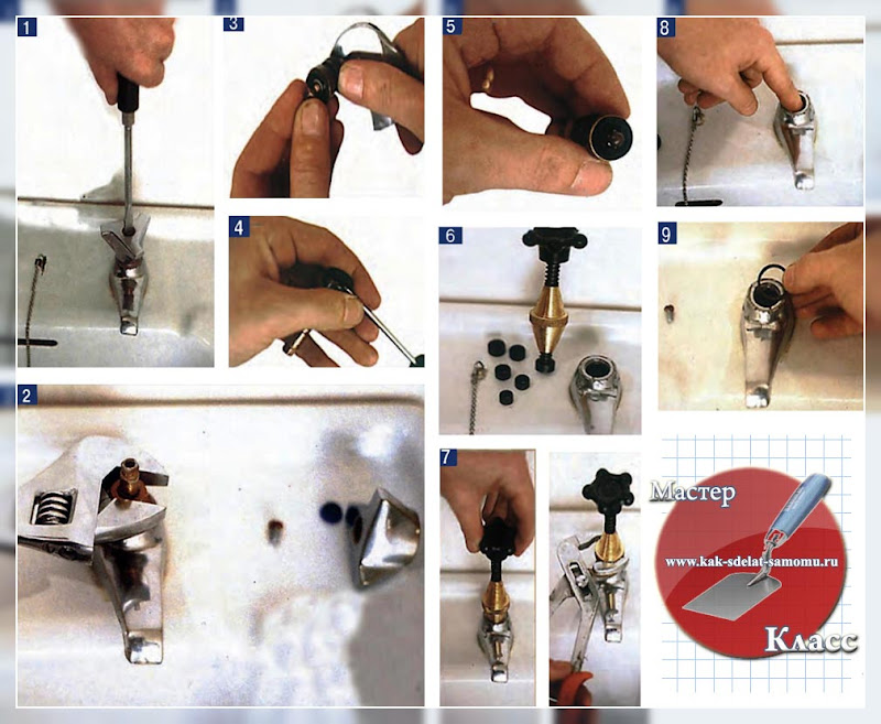 как отремонтировать кран на кухне, в ванной