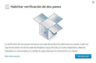 Dropbox y la verificación en dos pasos. Asegura tus datos