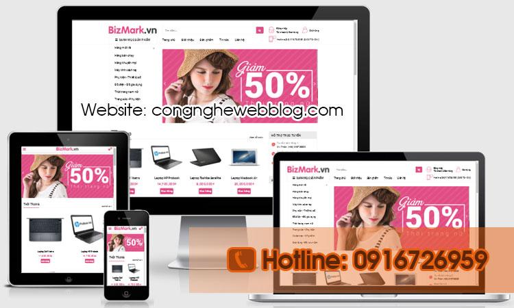 Template blogpsot bán hàng bizmax
