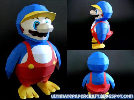 Penguin Mario Papercraft