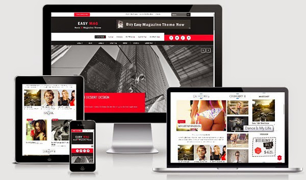 Share Free Easy Mag Responsive Blogger Template