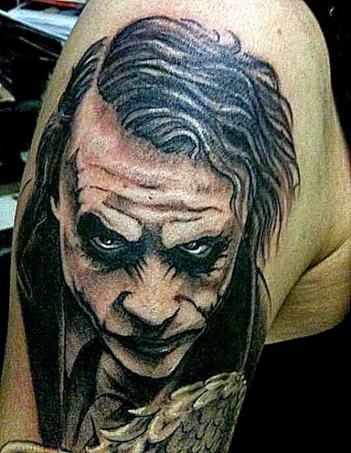 Joker Tattoo Design Ideas Pictures Gallery