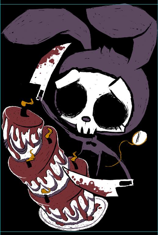 alice in wonderland horror, alice in wonderland goth tshirt, japanese gothic fashion, jhorror fashion, jhorror apparel, jrock fashion, jrock apparel, jrock shirt, skull bunny art, skeleton bunny shirt, dead wonderland