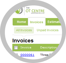 Occupational Therapy Invoicing