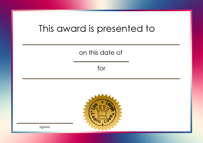 free printable award certificate borders for worlds best award joy studio design gallery. Black Bedroom Furniture Sets. Home Design Ideas