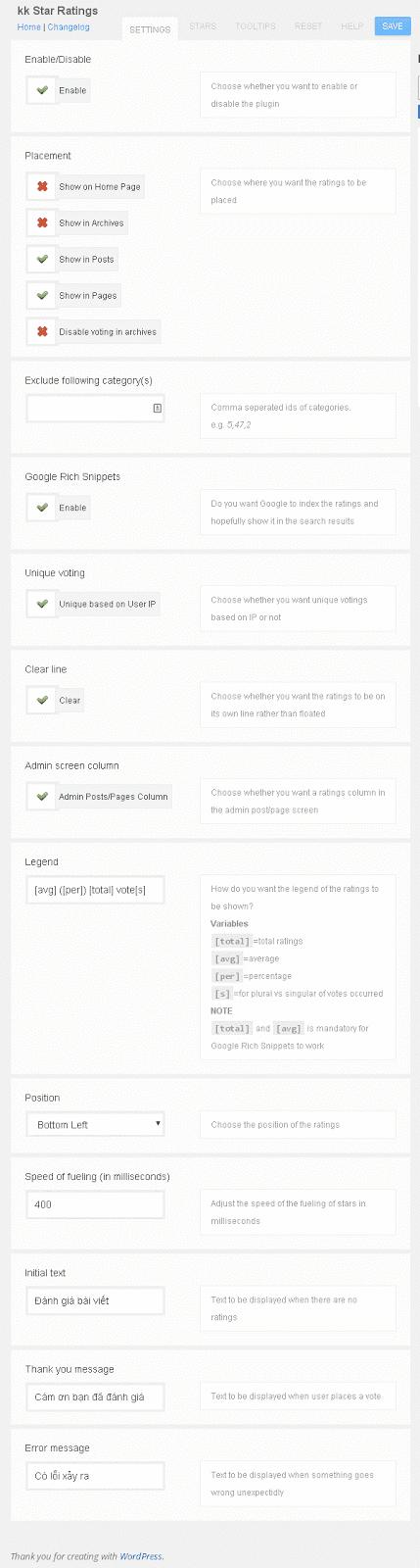 Hướng dẫn cài đặt, sử dụng và sửa lỗi plugin kk Star Ratings
