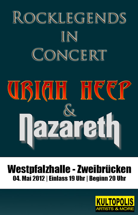 Rocklegends in Concert mit Uriah Heep & Nazareth