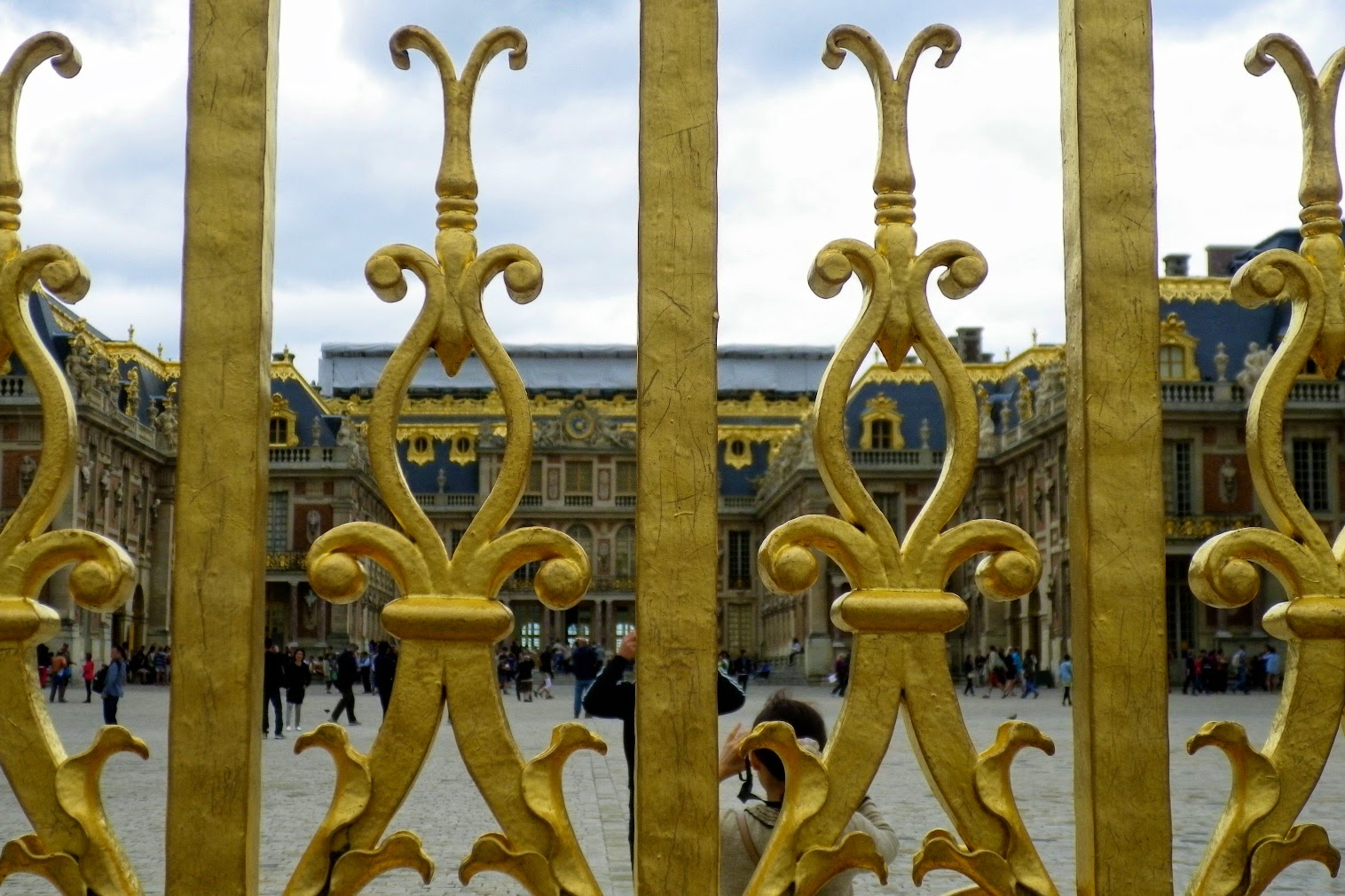 The gate of the Palace of Versailles