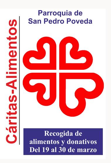 Campaña de recogida de alimentos y donativos para Cáritas de Jaén