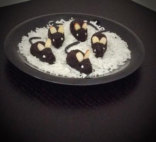 Myszki czekoladowe deser dla dzieci czekolada halloween