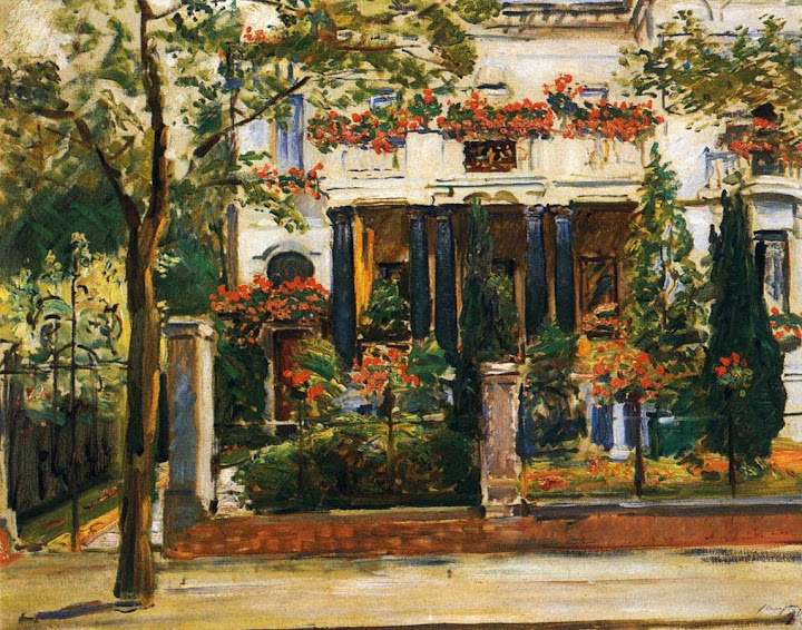 Max Slevogt - The Front Garden of the Steinbertschen Villa in Berlin